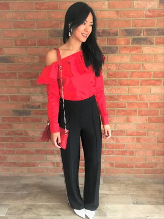 Red Clutch on model